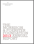 2013 MoFo Foundation Annual Report