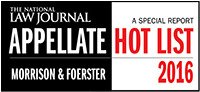 National Law Journal - 2016 Appellate Hot List