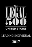 Ranked in Legal 500 US 2017 - Leading Individual