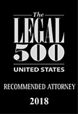 The Legal 500 US Recommended Attorney 2018